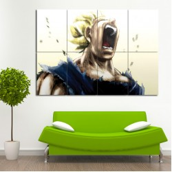 Dragon Ball Z Goku Super Saiyan Block Giant Wall Art Poster (P-0424)
