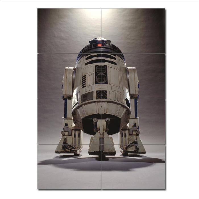 star wars r2d2 droid wand kunstdruck riesenposter. Black Bedroom Furniture Sets. Home Design Ideas