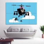 Banksy Happy Chopper Block Giant Wall Art Poster