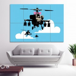 Banksy Happy Chopper Block Giant Wall Art Poster (P-0426)