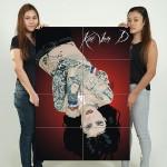 โปสเตอร์ ขนาดใหญ่ ภาพศิลปะ Kat Von D Tattoo