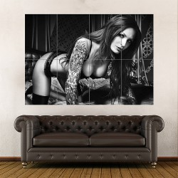 Anne Lindfjeld Sexy Hot Babe Block Giant Wall Art Poster (P-0430)