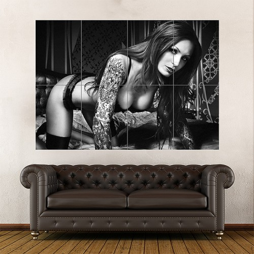 Anne Lindfjeld Sexy Hot Babe Block Giant Wall Art Poster