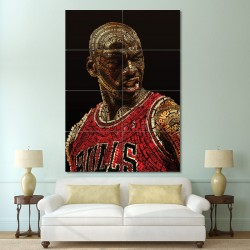 Michael Jordan Block Giant Wall Art Poster (P-0434)