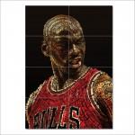 โปสเตอร์ ขนาดใหญ่ ภาพนักกีฬา Michael Jordan ไมเคิล จอร์แดน