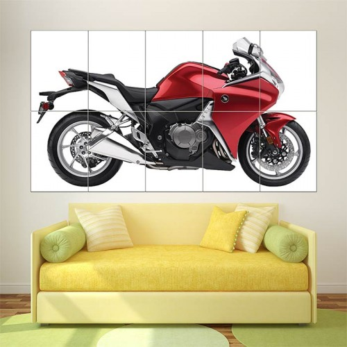 2010 Honda VFR1200F Red  Block Giant Wall Art Poster