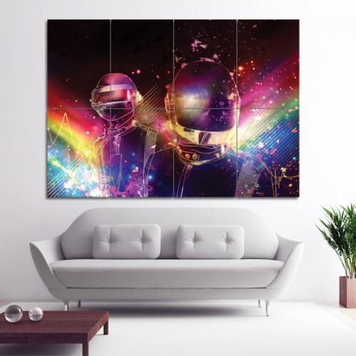 Fractal Light Art Daft Punk DJ Block Giant Wall Art Poster