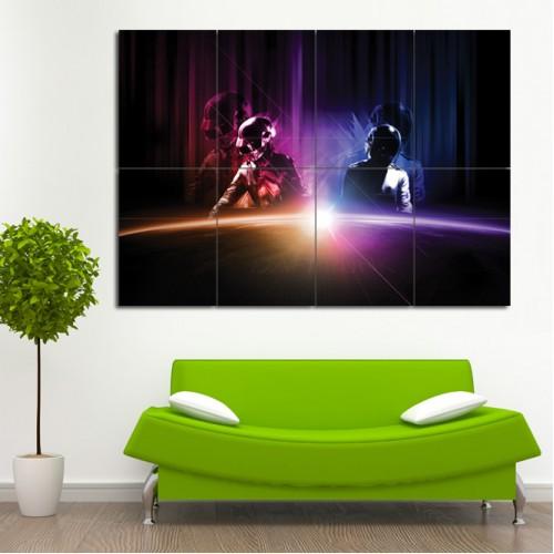 Daft Punk Block Giant Wall Art Poster