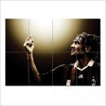 โปสเตอร์ ขนาดใหญ่ ภาพนักฟุตบอล Paolo Maldini เปาโล มัลดีนี