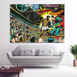 Superman vs Muhammad Ali Block Giant Wall Art Poster (P-0448)