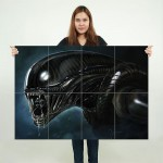 Alien H R Giger Huge Block Giant Wall Art Poster