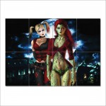 Batman Arkham Harley Quinn Poison Ivy Block Giant Wall Art Poster