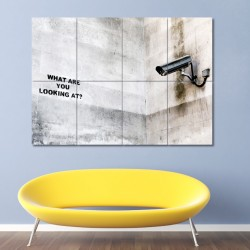Banksy What are you looking at? Block Giant Wall Art Poster (P-0458)
