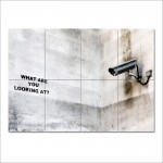Banksy What are you looking at?  Block Giant Wall Art Poster