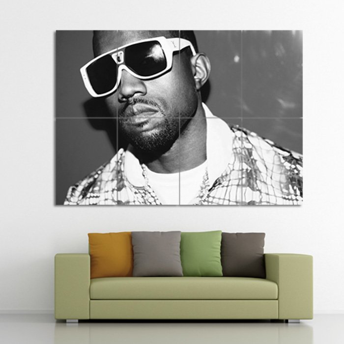 kanye west block giant wall art poster