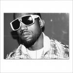 โปสเตอร์ ขนาดใหญ่ นักร้อง Kanye West  คานเย เวสต์