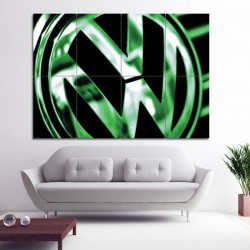 Volkswagen Badge VW Logo Block Giant Wall Art Poster (P-0463)