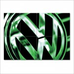 Volkswagen Badge VW Logo Block Giant Wall Art Poster