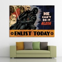 Darth Vader Star Wars Recruitment Block Giant Wall Art Poster