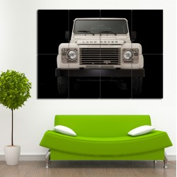 Land Rover Defender Block Giant Wall Art Poster (P-0465)