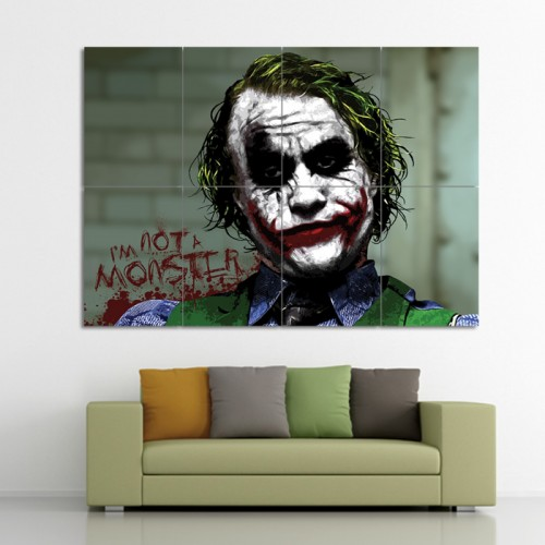 โปสเตอร์ ขนาดใหญ่ ภาพศิลปะ Batman Joker Im Not A Monster โจ๊กเกอร์ แบทแมน