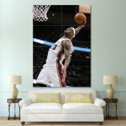 Lebron James Block Giant Wall Art Poster (P-0482)