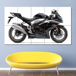 SUZUKI GSX R1000 Motorcycle Block Giant Wall Art Poster (P-0484)