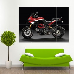 Ducati Multistrada Motorcycle Block Giant Wall Art Poster (P-0485)