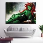 โปสเตอร์ขนาดใหญ่ ภาพ Fractal Light Art Poison Ivy Batman
