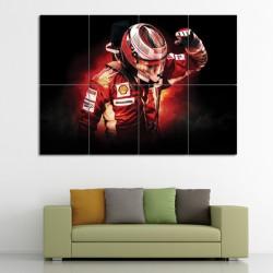 Kimi Raikkonen F1 Scuderia Ferrari Block Giant Wall Art Poster (P-0491)