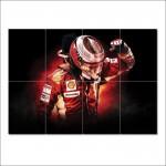 โปสเตอร์ ขนาดใหญ่  ภาพ Kimi Raikkonen F1 Scuderia Ferrari