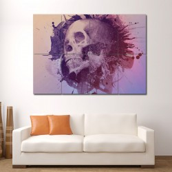 Watercolour skull Block Giant Wall Art Poster (P-0495)