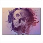 โปสเตอร์ ขนาดใหญ่ ภาพศิลปะ Watercolour skull