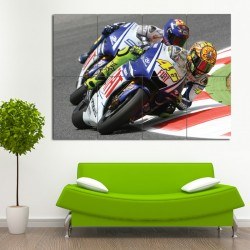 Valentino Rossi Motorcycle Block Giant Wall Art Poster (P-0500)