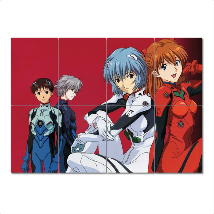 Neon Genesis Evangelion Manga Anime Wand Kunstdruck Riesenposter