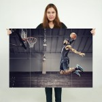 Basketball Lebron James Block Giant Wall Art Poster
