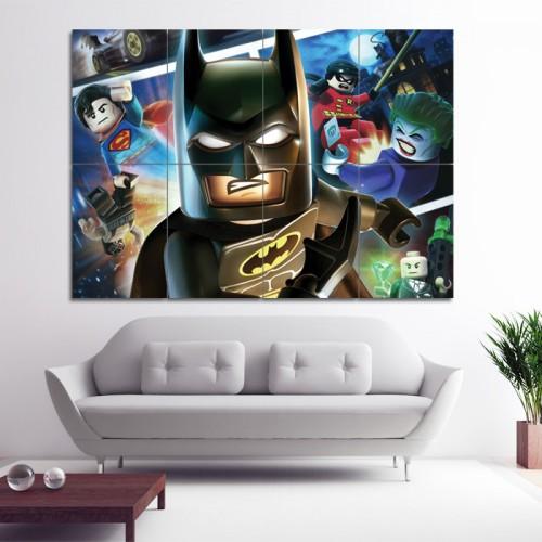 โปสเตอร์ ขนาดใหญ่ ภาพการ์ตูน LEGO Batman Super Heroes เลโก้