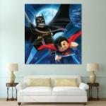 โปสเตอร์ ขนาดใหญ่ ภาพการ์ตูน LEGO Batman Superman Heroes