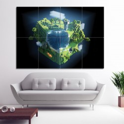 Minecraft Block Giant Wall Art Poster (P-0527)
