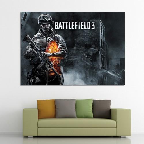 โปสเตอร์ ขนาดใหญ่ เกมส์ Battlefield 3 แบทเทิลฟิลด์