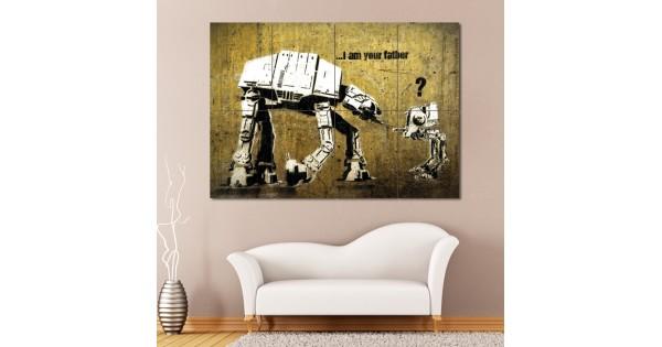 banksy star wars wand kunstdruck riesenposter. Black Bedroom Furniture Sets. Home Design Ideas