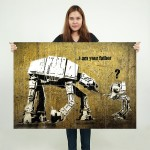 Banksy Star Wars Block Giant Wall Art Poster