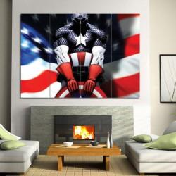 โปสเตอร์ ขนาดใหญ่ การ์ตูน Comics Captain America (P-0536)