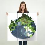 โปสเตอร์ ขนาดใหญ่ เกมส์ Minecraft เกมส์มายคราฟ