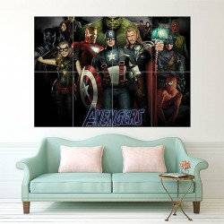 The Avengers Block Giant Wall Art Poster (P-0544)