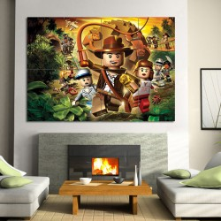 LEGO Indiana Jones Block Giant Wall Art Poster (P-0545)