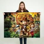 โปสเตอร์ ขนาดใหญ่ LEGO Indiana Jones  อินเดียน่า โจนส์
