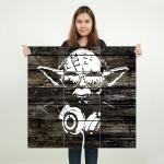 โปสเตอร์ ขนาดใหญ่ ภาพ Yoda Wood Graffiti - Star Wars  โยดา
