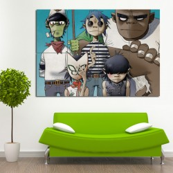 Gorillaz Block Giant Wall Art Poster (P-0552)