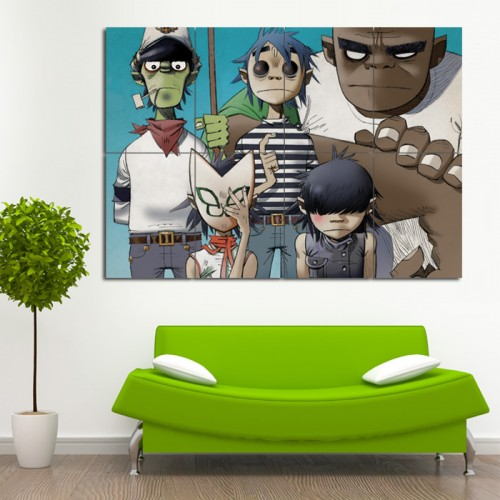 โปสเตอร์ ขนาดใหญ่  ภาพ Gorillaz กอริลลาซ